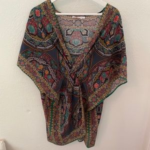Johnny was silk tunic size small